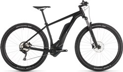 Product image for Cube Reaction Hybrid Pro 400 Black Edit 2019 - Electric Mountain Bike