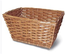 Wicker Front Basket and Leather Straps