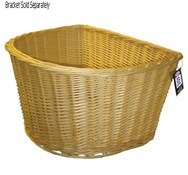 D Shape Wicker Basket 18 inch