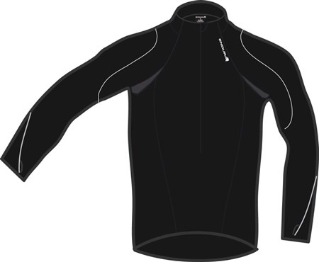 Image of Endura Xtract Zip Neck Long Sleeve Cycling Jersey SS16