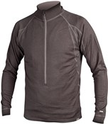Product image for Endura BaaBaa Merino Zip Neck Long Sleeve Cycling Jersey  SS16