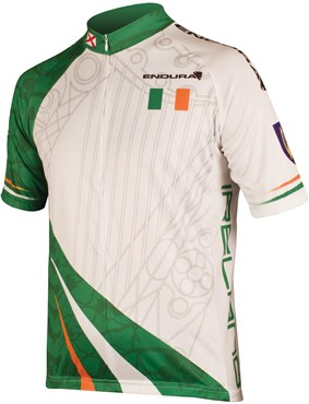 Image of Endura CoolMax Printed Ireland Short Sleeve Cycling Jersey AW16