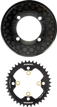 Image of Shimano Saint CR81 Chainring and Bash Guard Set Without Fixing Bolts