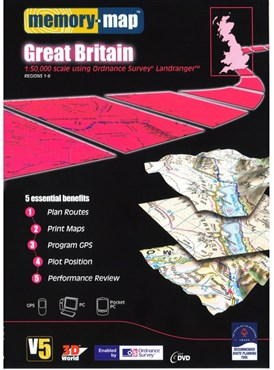 Memory Map OS Landranger Standard Edition Great Britain V5 - DVD