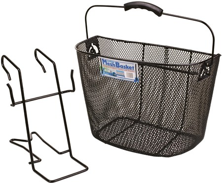 Image of Oxford Black Mesh Basket With Bracket