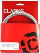 Clarks Universal S/S Front & Rear Gear Cable Kit w/SP4 Outer Casing