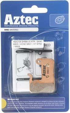 Image of Aztec Sintered Disc Brake Pads For Shimano M965 XTR / M966 Callipers