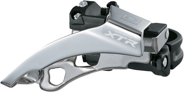 Image of Shimano XTR M980 10 Speed Triple Front Derailleur Top Swing Dual Pull