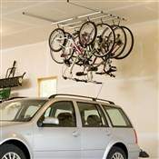 Product image for Saris Parking Cycle Glide Ceiling Mount Storage Rack - 4 Bikes