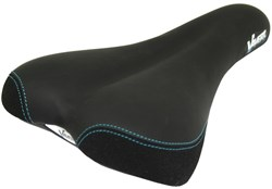 Gel Comfort Saddle With Satin Steel Rails