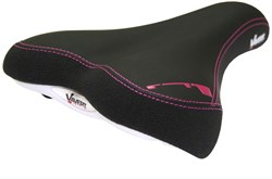 Memory Foam Comfort Womens Saddle With Satin Steel Rails