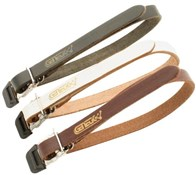 Single Toe Clip Leather Straps