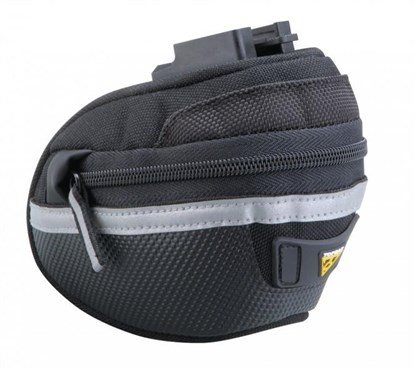 Image of Topeak Wedge Pack II Saddle Bag With QuickClick (F25) w/Seatpost Strap