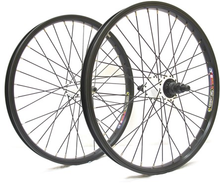 Savage 9T Cassette BMX Wheelset 14mm Rear 10mm Front BX32 Rims