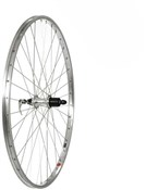Tru Build Silver Alloy Rim Built on Shimano 7 Speed Cassette Alloy Q/R Hub