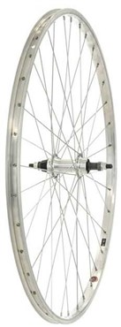 Image of Tru-Build 700c Alloy Rim Silver Screw-on Alloy Nutted Hub