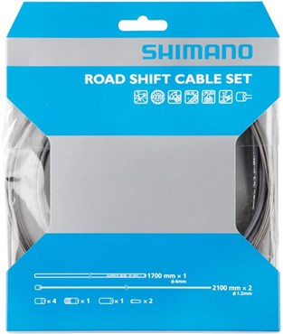 Shimano Dura Ace Road Gear Cable Set With PTFE Coated Inner Wire, High Tech Grey