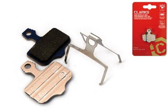 Clarks Elite Semi-Metallic Disc Brake Pads for Avid Elixir CR/R, Elixir, Sram XX, Spring Inc