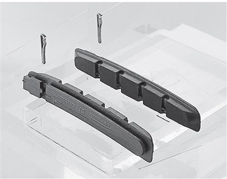 Shimano S70C Cartridge V-Brake Shoe Inserts With Fixing Pin