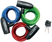 6 x Self Coiling Steel Cable Lock Colours