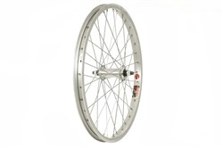 Product image for DiamondBack Silver 3/8 inch Nutted With ALEX J303 36H Rim Front BMX Wheel