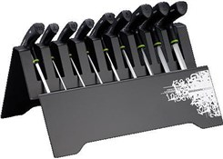 Product image for Birzman T Bar Hex Key Set with Metal Rack