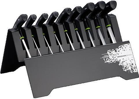 Image of Birzman T Bar Hex Key Set with Metal Rack