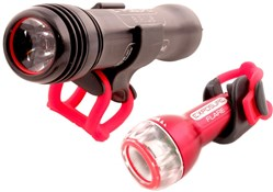Sirius Mk1 Bike Light with Flare Rear Light