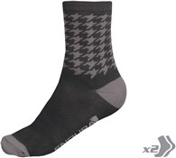 Endura Houndstooth Cycling Socks - Twinpack SS17