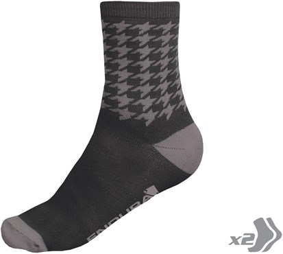 Image of Endura Houndstooth Cycling Socks - Twinpack SS17