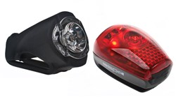 1 Watt Front USB Rechargeable and 3 LED Rear Lightset