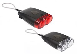 Morpheme USB Rechargeable Front and Rear Light Set