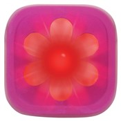 Product image for Knog Blinder 1 LED Pink Flower USB Rechargeable Rear Light