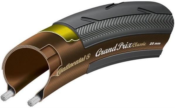 Image of Continental Grand Prix Classic Black Chili Folding Tyre