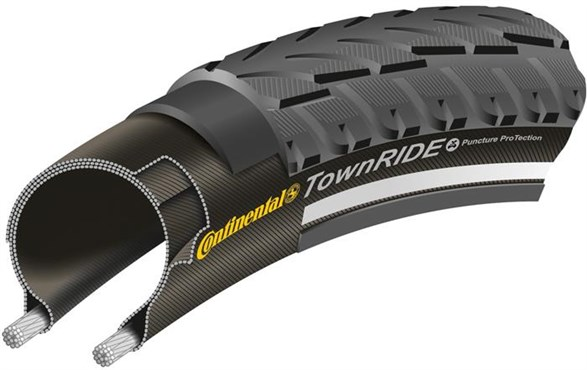 Image of Continental Town Ride Reflective 700c Hybrid Tyre