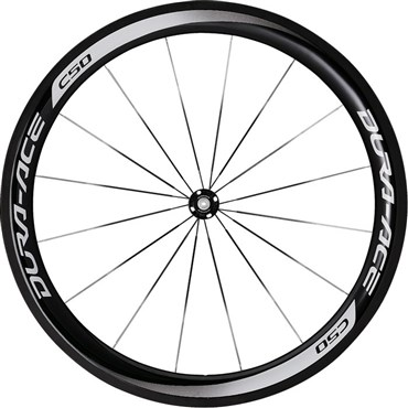 Image of Shimano WH-9000 Dura-Ace C50-TU Carbon Tubular 50mm Front Road Wheel