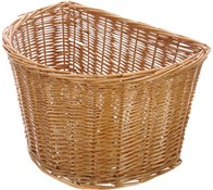 D Shape Full Wicker Cane Basket