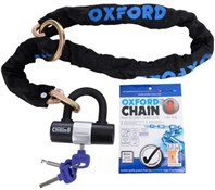 Oxford Chain8 Sold Secure Pedal Cycle Silver Chain Lock With Padlock