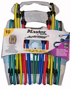 Product image for Master Lock 10 Piece Bungee Organiser With Reverse Hooks