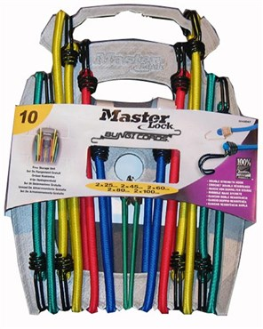 Image of Master Lock 10 Piece Bungee Organiser With Reverse Hooks