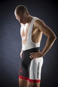 Product image for Merida Red Trieste Design 6 Panel Cycling Bib Short 2014