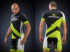 Green Race Design Short Sleeve Cycling Jersey 2014