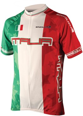 Image of Endura CoolMax Printed Italy Short Sleeve Cycling Jersey SS16