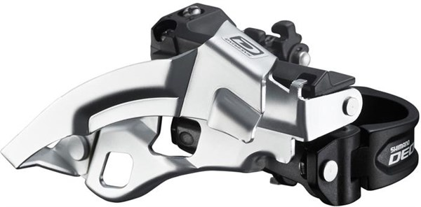 Image of Shimano FD-M610 Deore 10 Speed Triple Front Derailleur, Top Swing, Dual-Pull