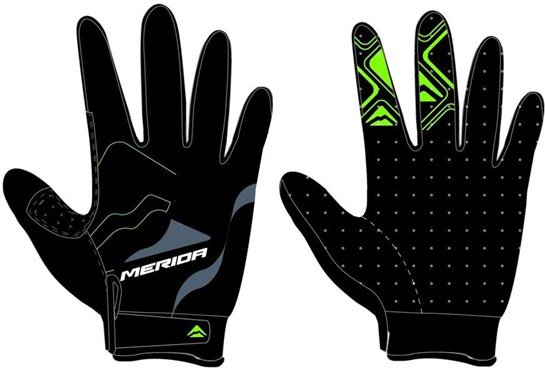 Image of Merida Long Finger Gel Cycling Gloves
