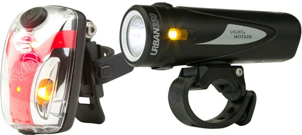 Light and Motion Urban 350 Obsidian Stout & Vis 180 Micro Twinpack USB Rechargeable Light Set