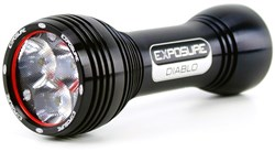 Diablo Mk6 Rechargeable Front Light with Helmet and Handleb Mounts