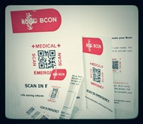 Bcon Emergency Medical Scan Stickers