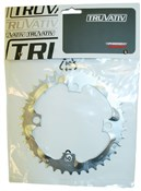 Chainring MTB 38t 4 Bolt 104mm BCD Steel Tech Silver
