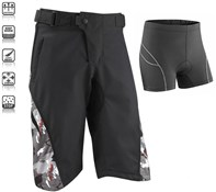 Tenn Burn MTB Cycling Shorts with Padded Boxers Combo Deal